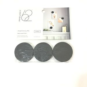 Project 62 Photo Clips 3Pack Black Wood Finish